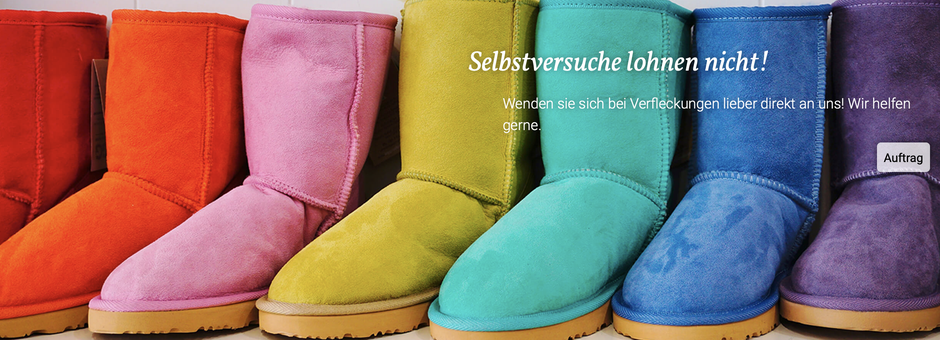 mueden.de, Schuhservice, Bild von Lammfellschuhen