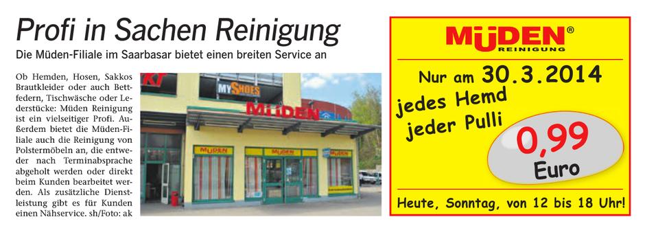 BLOG, Pressebericht und Werbung 30.03.2014 Saarbasar