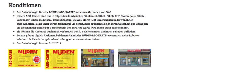 mueden.de, Presse, November 2016, Saarbrücker Zeitung, Auktion Gutscheine