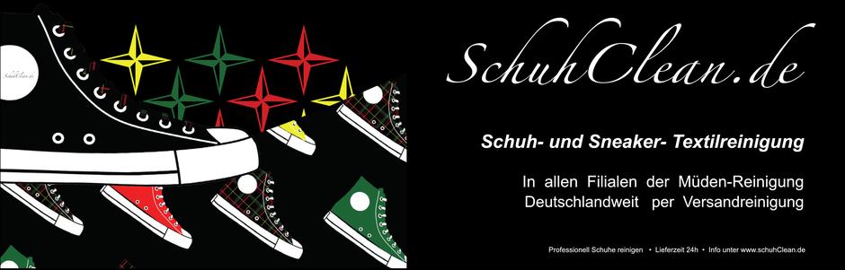 mueden.de, Schuhclean Werbung