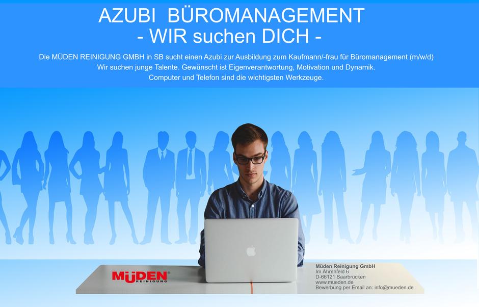 mueden.de, Info Shop Stellenangebote, Bild Azubi Büromanagement