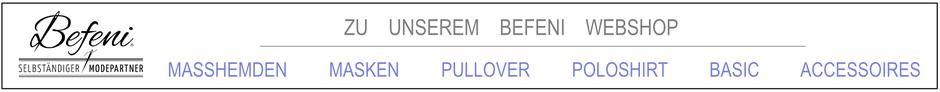 mueden.de, Masshemd, Befeni-Produkte, Banner Befeni WebShop