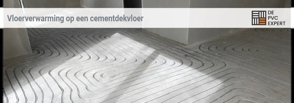 Installeren vloerverwarming na PVC vloer verwijderen