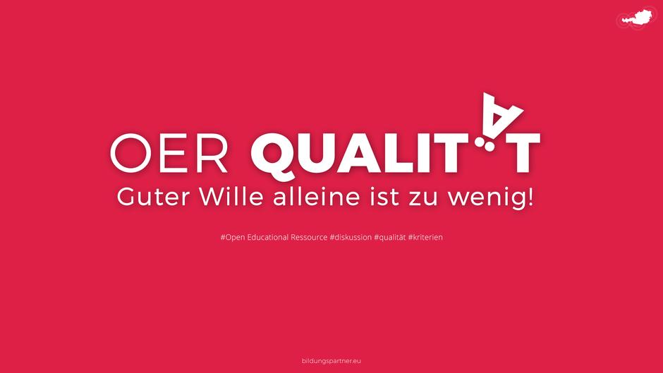 Bildungspartner OER Qualität