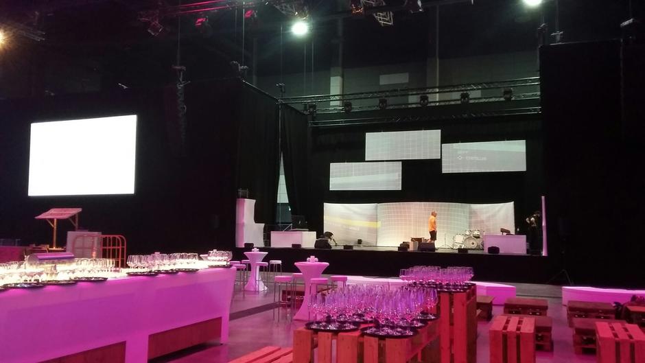Galaveranstaltung in der Europa-Park Arena - Aufbau, geplant mit AutoSTAGE