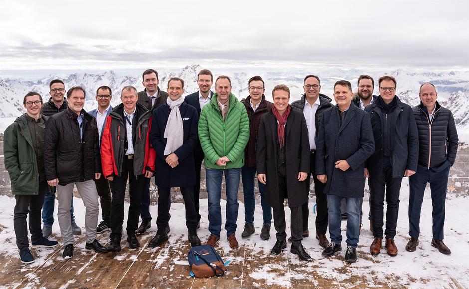 Gruppenbild Zahngipfel 2018 Kornhaus Kempten Vollkeramik Symposium Fehmer, Zuch, Edelhoff, Brodbeck, Hench, Schweiger, Frank, Maier, Lotz, Kreibich, Streit, Walther