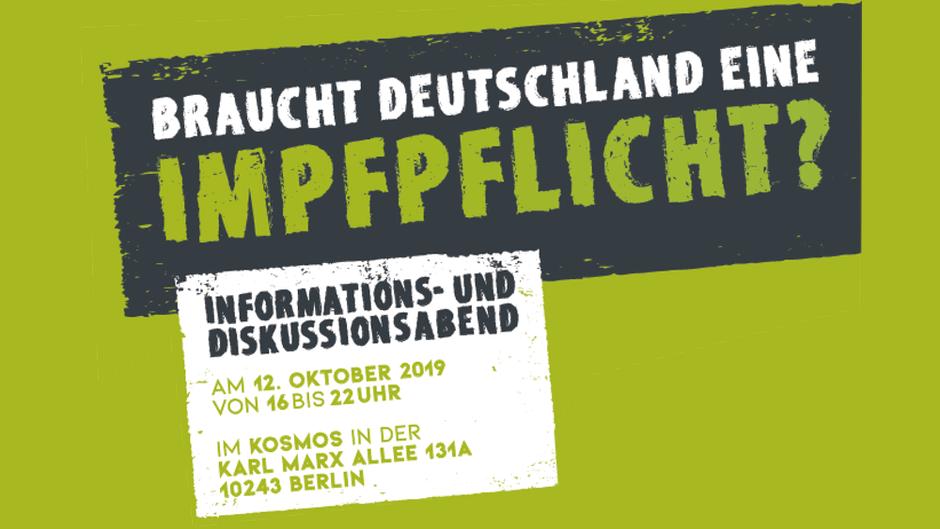 Braucht Deutschland eine Impfpflicht? Veranstaltung Berlin