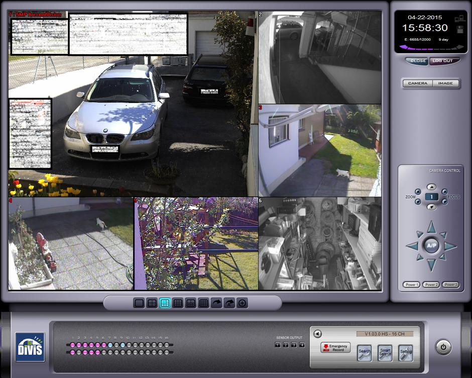 SafeTech Beispiel einer Divis Hybrid Videoüberwachung mit 5Megapixel Kamera und analoge Kameras