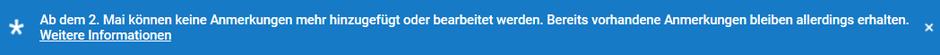 YouTube-Hinweis zur Abschaltung der Erstellung neuer Anmerkungen in Videos zum 2. Mai 2017