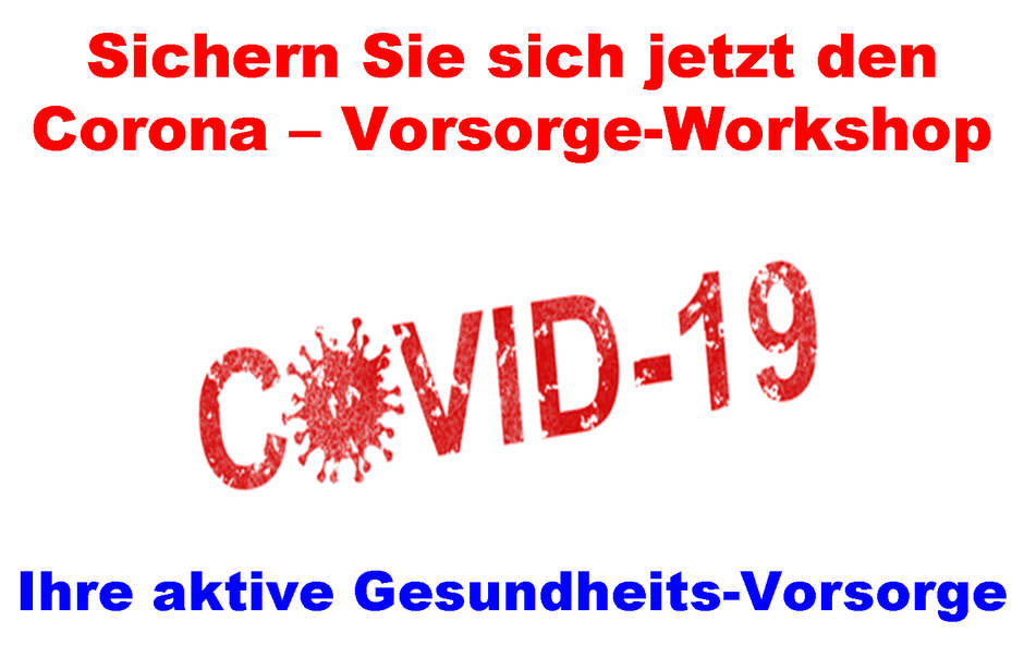 Corona Vorsorge-Workshop Schmitz Business Consulting GmbH COVID-19