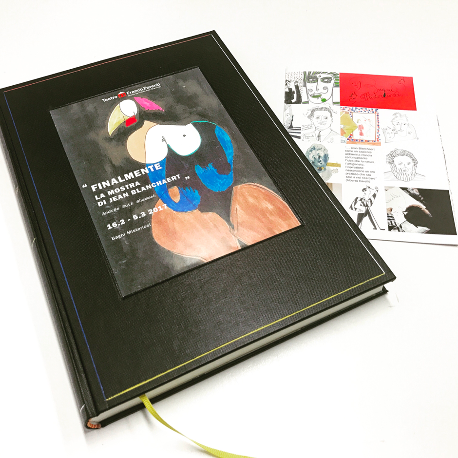 Libro firma per Jean Blanchaert firmato conti borbone