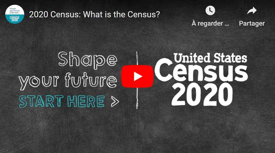 Official presentation of the census by the U.S. Department of Commerce that the Census Bureau reports to.