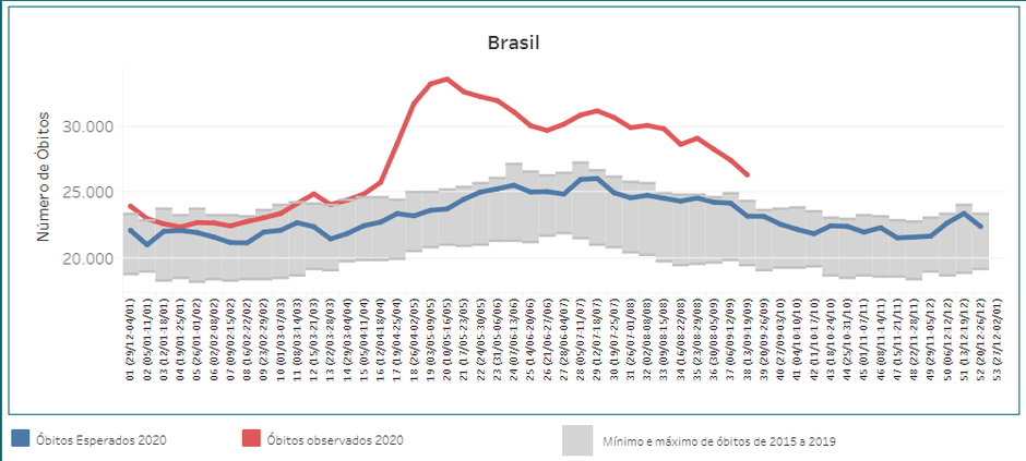 The high mortality rate in Brazil according to a study from the National Council of Health Secretaries (CONASS)