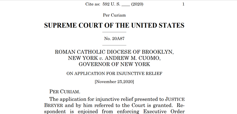 November 25, 2020 Supreme Court decision