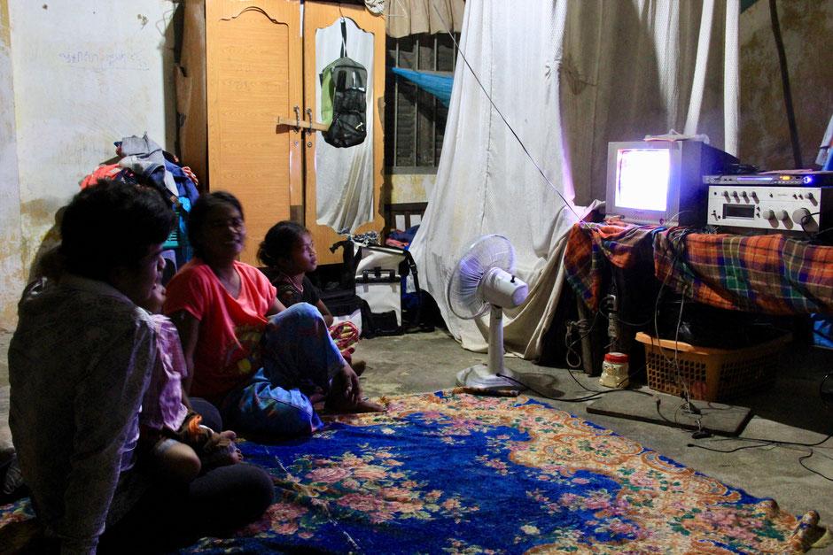 TV-Abend im Schulzimmer