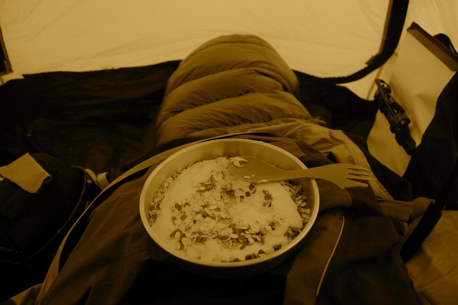 Frühstück im Bett - herrlich!
