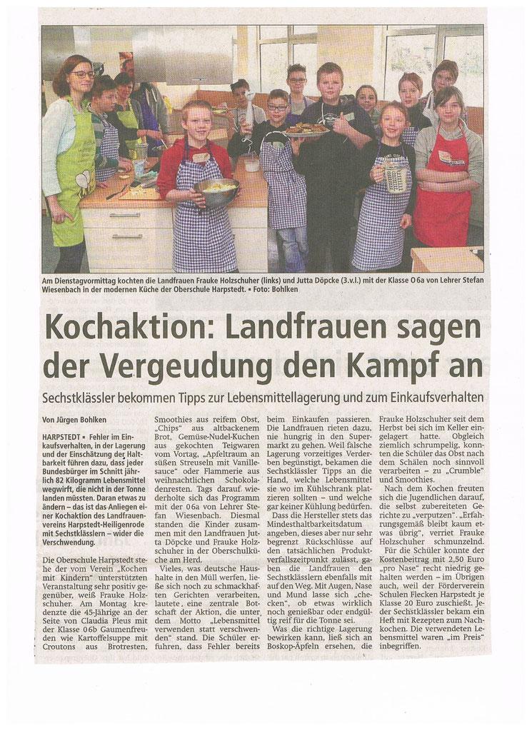 Mit freundlicher Genehmigung der Kreiszeitung vom 18.1.2017