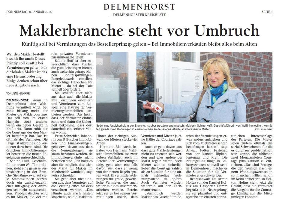 Optimistisch: Sabine Huff von Wolff Immobilien