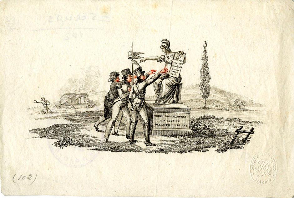 Anónimo.  Constitución de 1812.  Museo del Romanticismo, Madrid