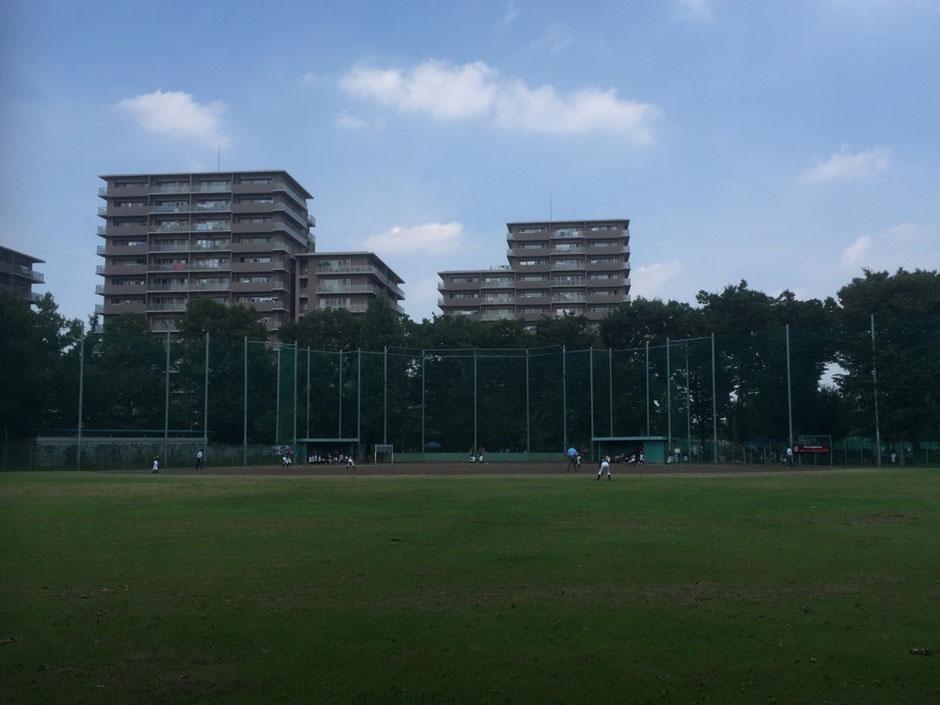 Baseball field at Higashiyamato Minami park Tokyo Higashiyamato 都立東大和南公園野球場 東京都東大和市