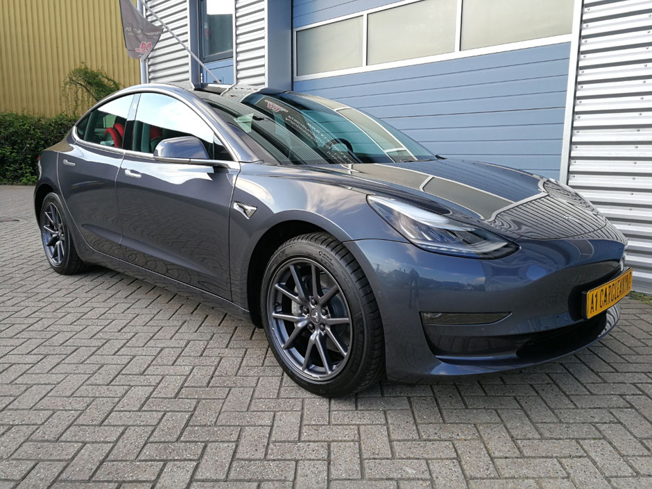Tesla Model 3, behandeld met glascoating | A1 Car Cleaning