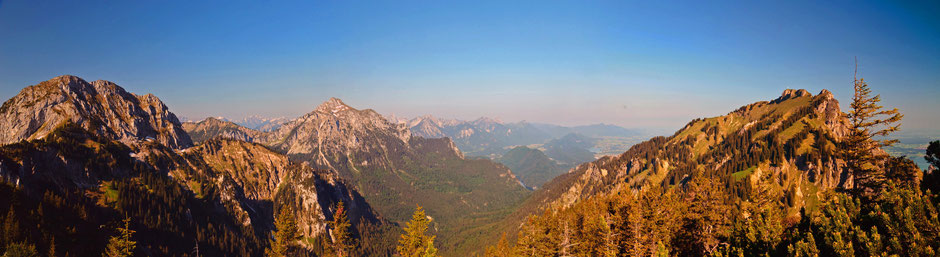 Panorama , Berge , Alpen , Allgäu , Füssen , Bayern , Deutschland , E4 , Fernwanderweg , Tegelberghaus , Maximilliensweg , Mountains , Wandern , trekking , Landscape , Alps , Germany