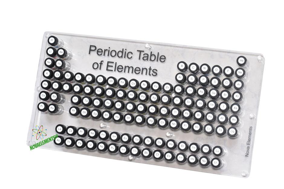 Tavola periodica box completo per collezionare gli elementi, solo su NovaElements!
