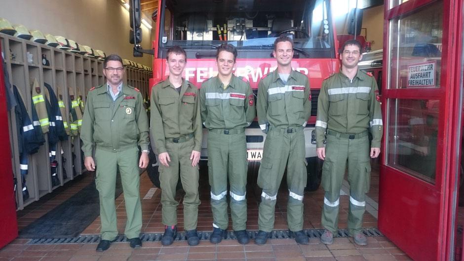 AK ABI Ing. Walter Stockner, Philipp Eliskases, Simon Fagschlunger, Harald Begrer und KDT Georg Crepaz