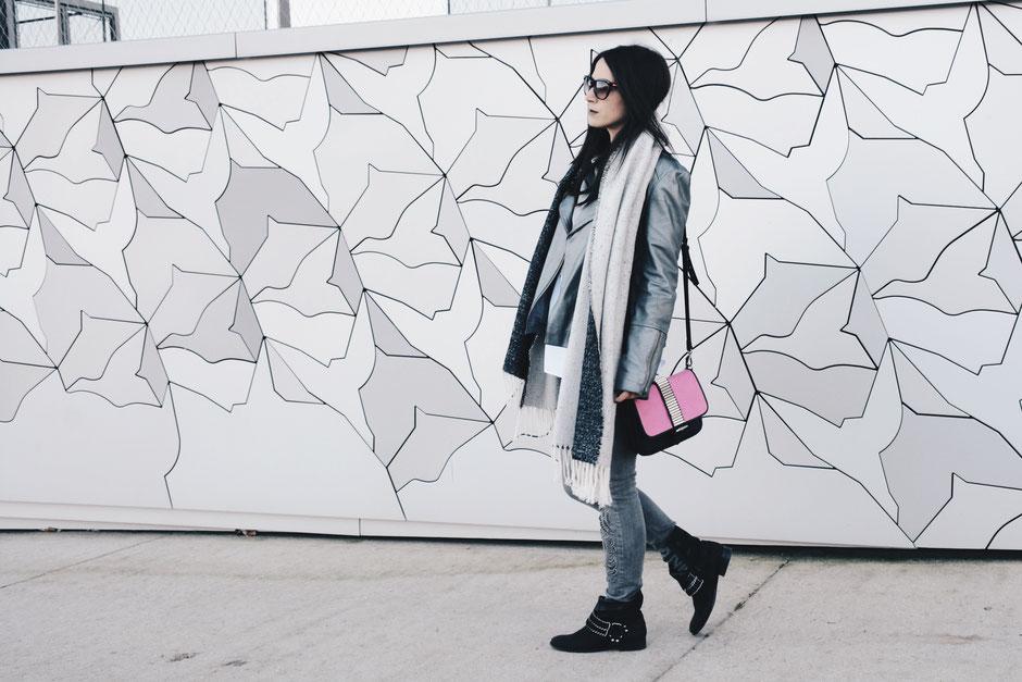 sac rose perfecto argenté