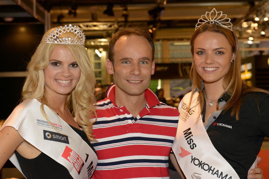 Nathalie Fischer - Model und Miss Auto Zürich 2013 mit Nicole Homola - Model und Miss Yokohama 2013