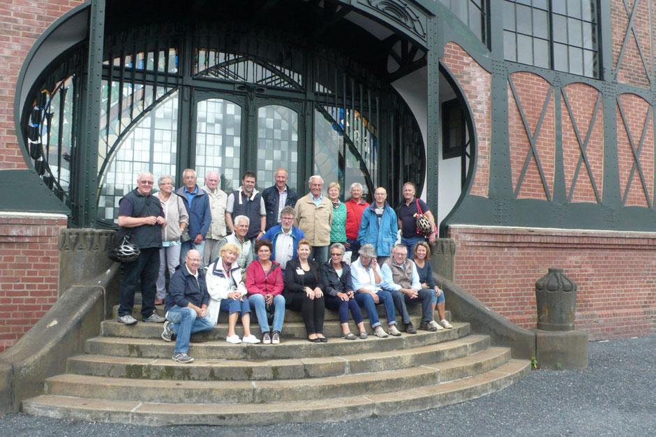 Gruppenfoto auf der Zeche Zollern