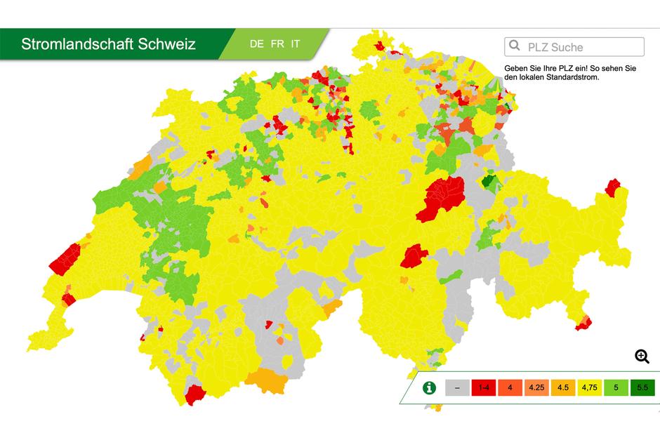 Stromlandschaftt Schweiz