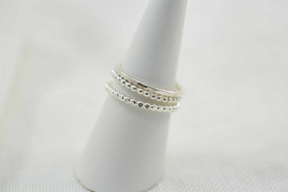bagues fines en argent empilables - small sterling silver stacking rings