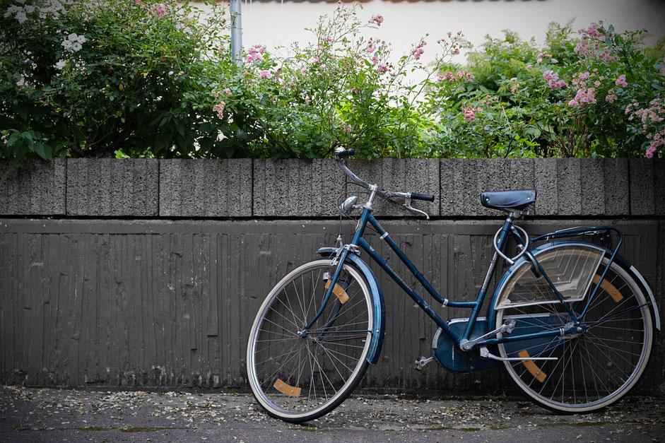 vélo hollandais bleu