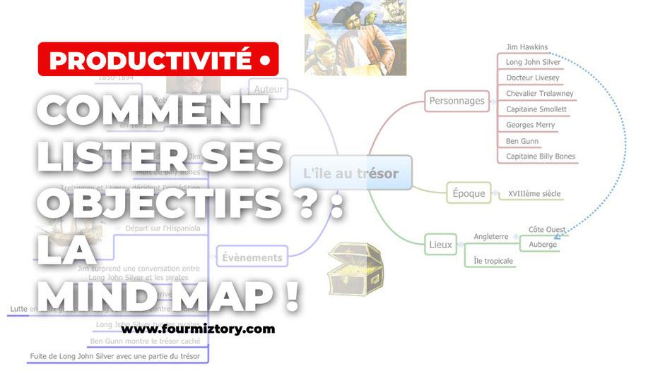 La mind map ou carte heuristique est un outil fabuleux pour les écrivains !