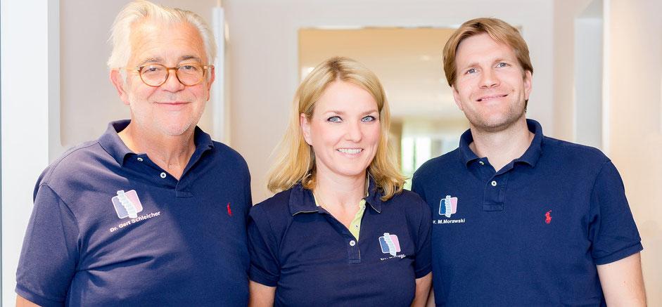 Dr. med. Gert Schleicher, Dr. med. Susanne Hügle, Dr. med. Moritz Morawski, ORTHO Eins Orthopädie-Team in Berlin Zehlendorf