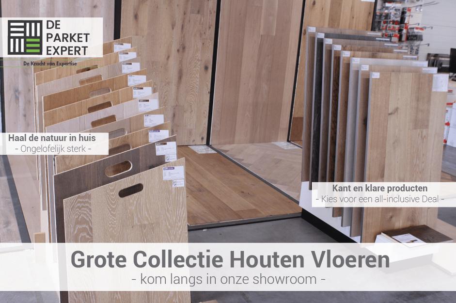 collectie houten vloeren uit de outlet van de parket expert