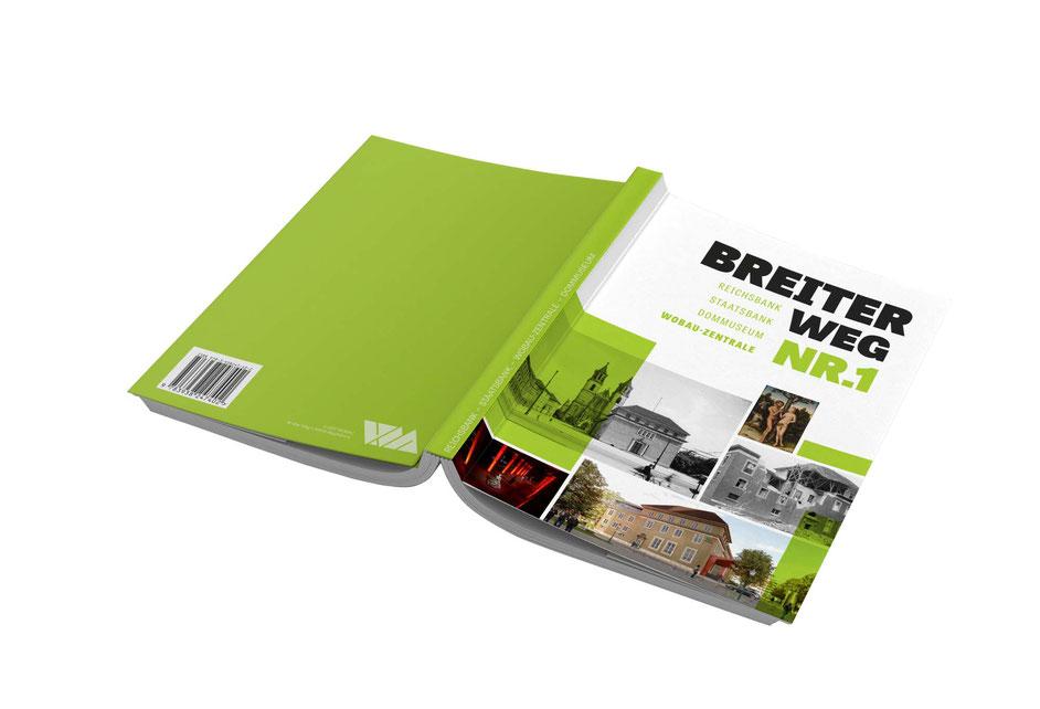 Gestaltung einer Historien-Broschüre für die WOBAU