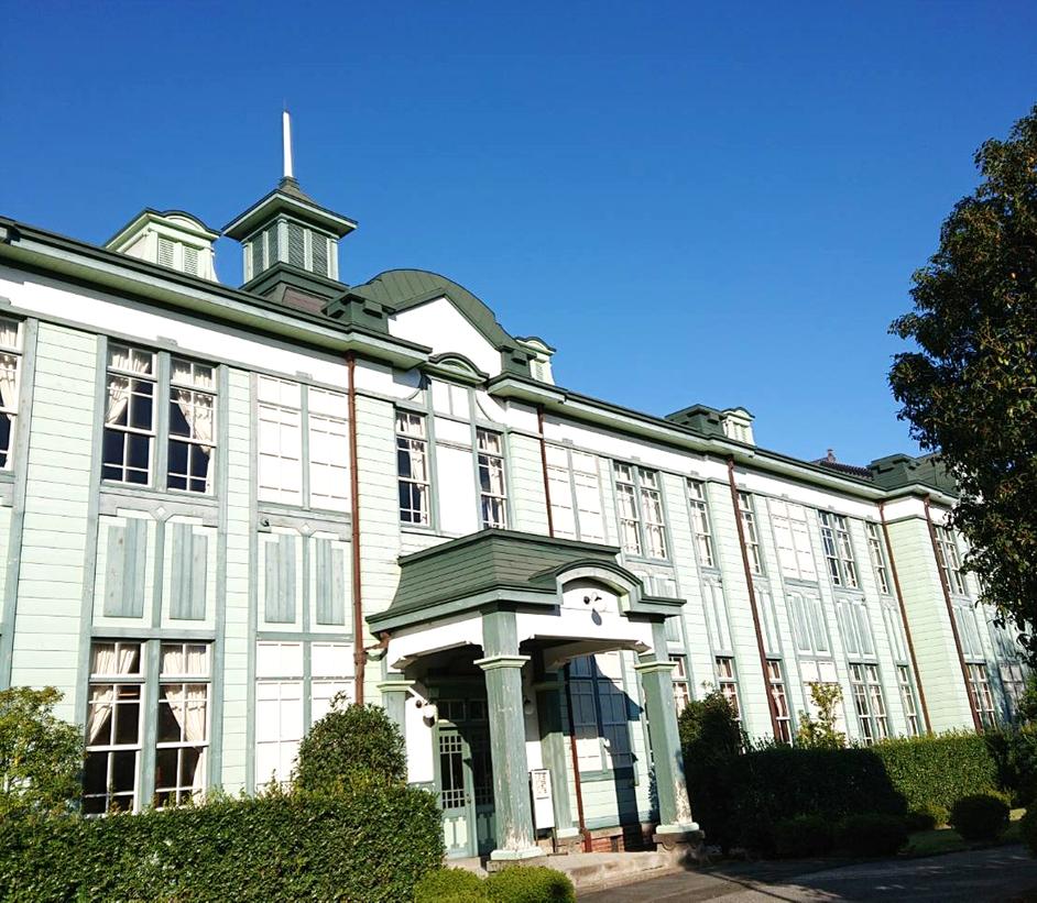 「埼玉県立深谷商業高等学校記念館(二層楼)」 ※大正11年(1922年)建築で創設には渋沢栄一翁が尽力した