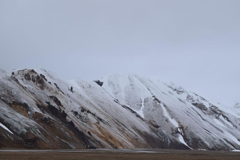 snow Landmannalaugar Barmur June