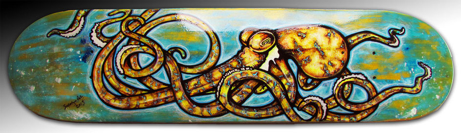 yellow octopus skateboard