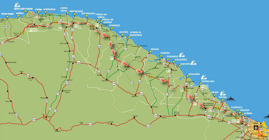 LIST OF KITESURFING SPOT IN NOTHERN BRASIL