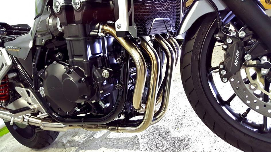 CB1300のエンジン・マフラーのコーティング