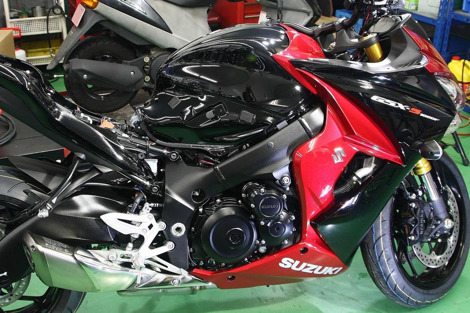 GSX-S1000Fのバイクコーティング完成