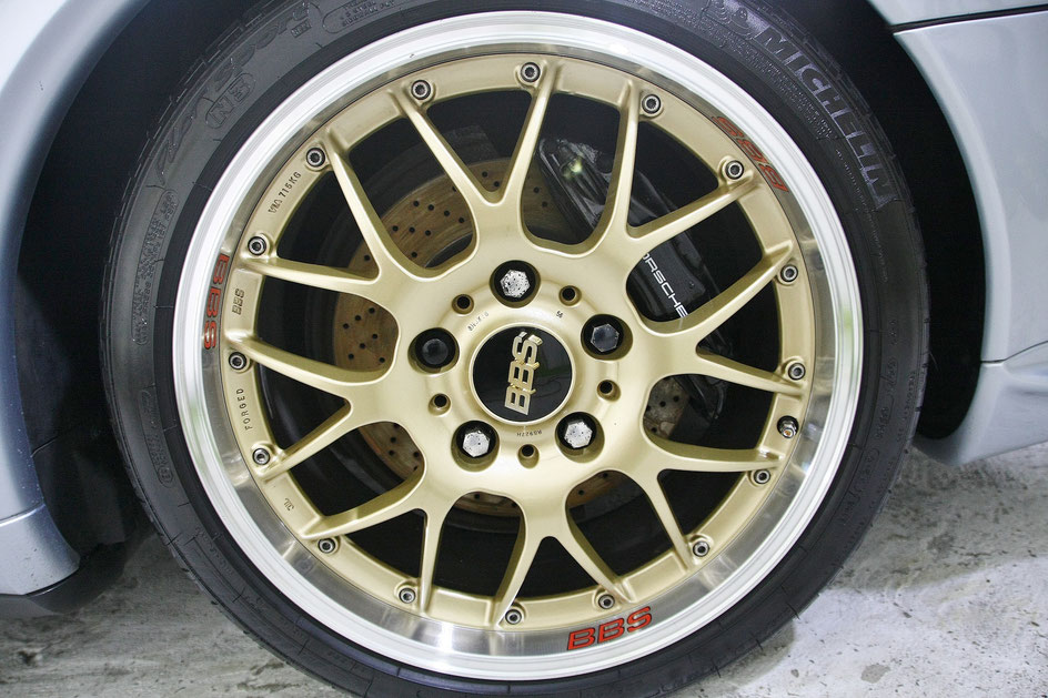 BBS RS-GTのブレーキダスト除去後 ホイール洗浄後