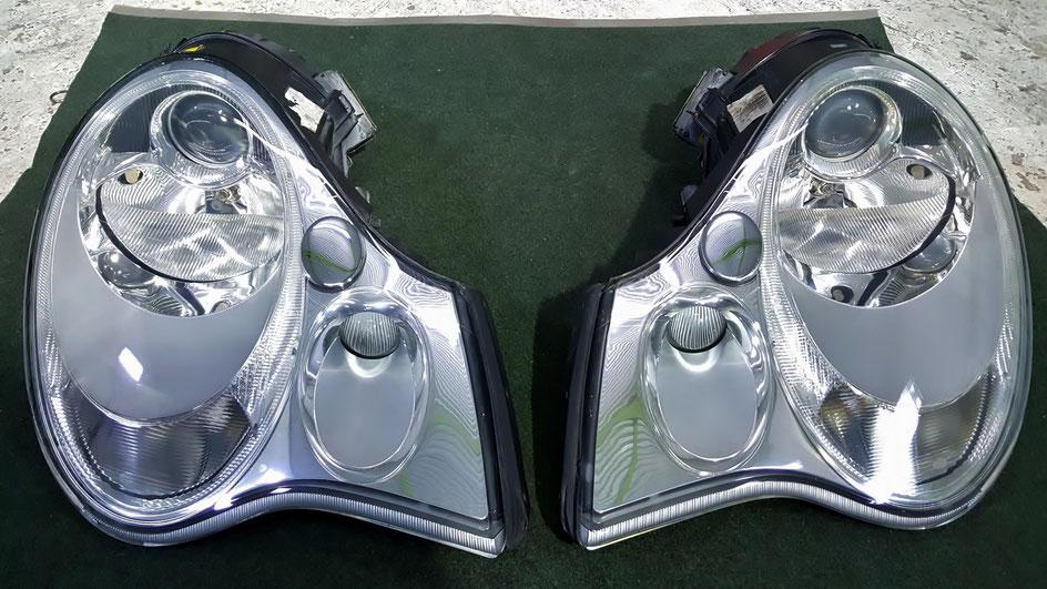ポルシェ996ターボのヘッドライトコーティング 埼玉の車磨き専門店 所沢 川口 狭山 杉並 深谷
