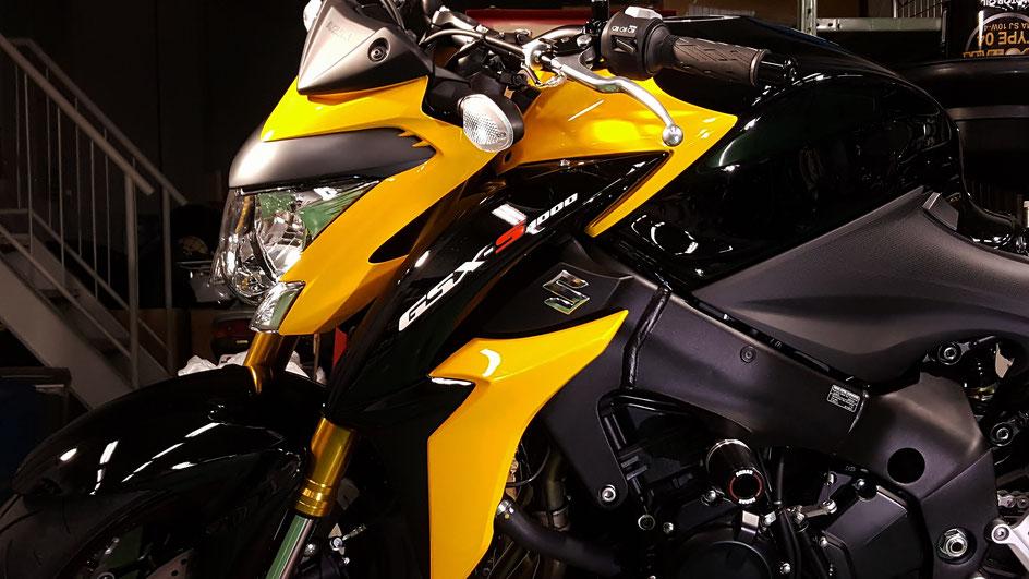 GSX-S1000 バイクコーティング 傷消し 川口 戸田 蕨 朝霞 志木 新座