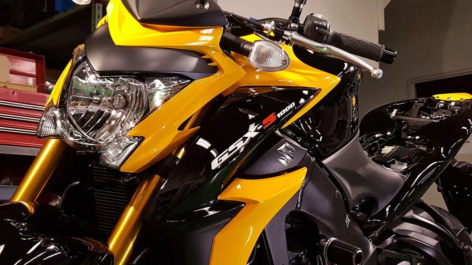 GSX-S1000 ガラスコーティング 西東京 調布 東村山 武蔵野市 バイク磨き 埼玉 ふじみ野