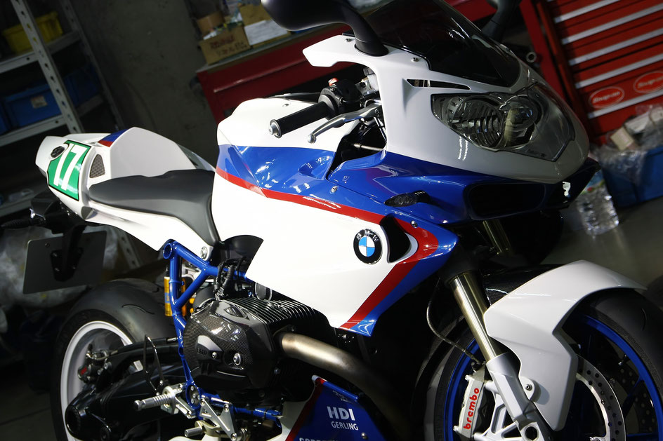 BMW・HP2スポーツのバイクコーティング完成