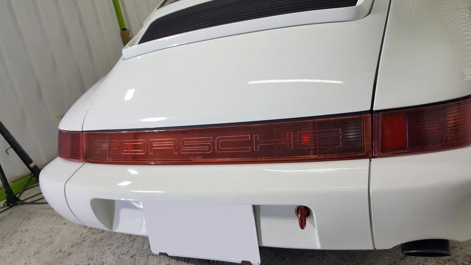 ポルシェ964磨きでくすみ除去 埼玉の車磨き専門店